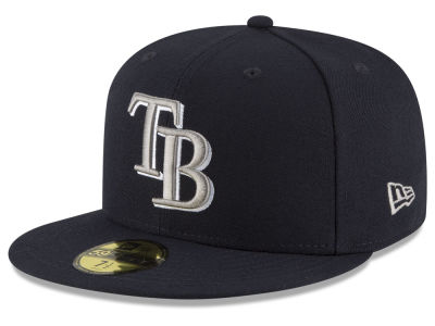 Tampa Bay Rays New Era MLB Navy Gray White 59FIFTY Cap