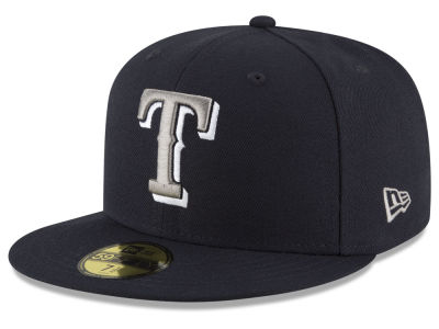 Texas Rangers New Era MLB Navy Gray White 59FIFTY Cap