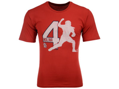 St. Louis Cardinals Yadier Molina MLB Men's Lux Cotton Player T-Shirt
