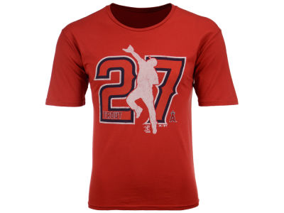 Los Angeles Angels Mike Trout MLB Men's Lux Cotton Player T-Shirt