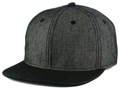 LIDS Private Label Denim X Leather Strapback Cap