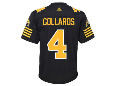 Hamilton Tiger-Cats Zach Collaros adidas CFL Men's New Premier Jersey