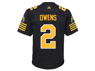Hamilton Tiger-Cats Chad Owens adidas CFL Men's New Premier Jersey