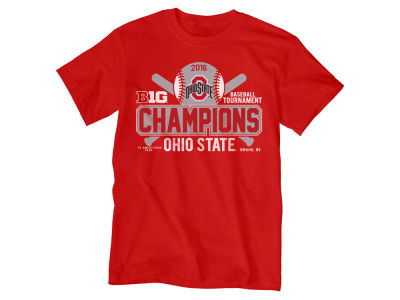 Ohio State Buckeyes NCAA Men's Big 10 Baseball Champ T-Shirt