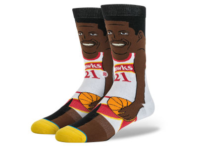 Atlanta Hawks Stance Cartoon Legend Player Socks