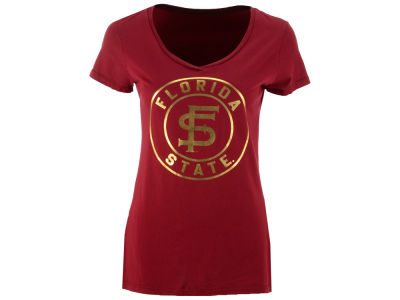 Florida State Seminoles Retro Brand NCAA Women's Vintage V-Neck T-Shirt