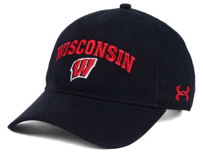 Wisconsin Badgers Under Armour NCAA Brushed Twill Adjustable Cap