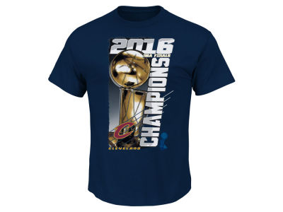 Cleveland Cavaliers Majestic NBA Men's Champ Trophy Roster T-Shirt