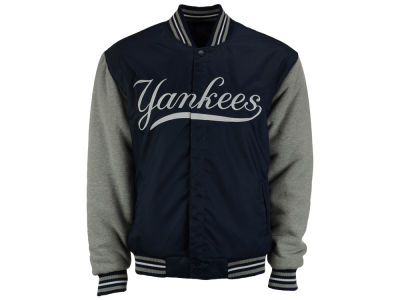 New York Yankees MLB Men's Big Logo Reversible Poly-Fleece Jacket