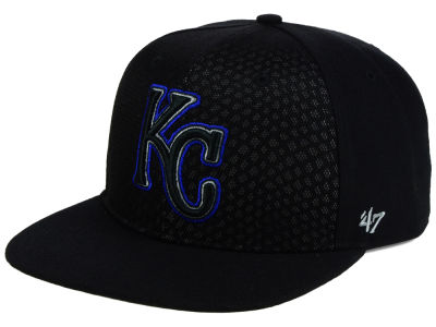 Kansas City Royals '47 MLB '47 Black Venom Snapback Cap