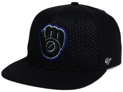 Milwaukee Brewers '47 MLB '47 Black Venom Snapback Cap