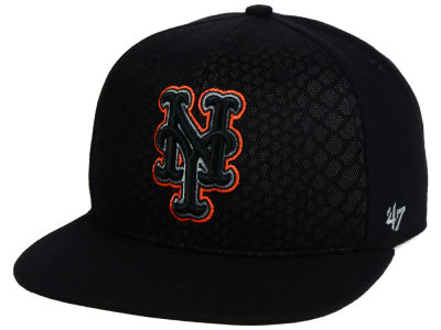 New York Mets '47 MLB '47 Black Venom Snapback Cap