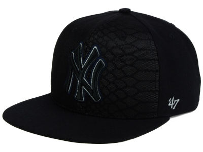 New York Yankees '47 MLB '47 Black Venom Snapback Cap