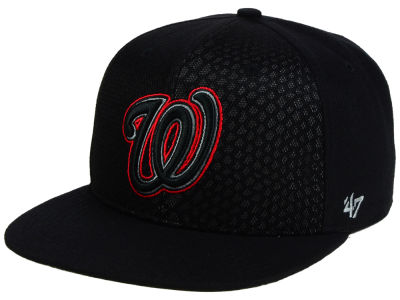 Washington Nationals '47 MLB '47 Black Venom Snapback Cap