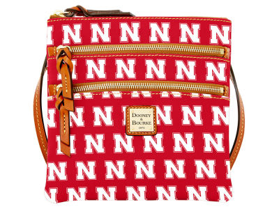 Nebraska Cornhuskers Dooney & Bourke Triple Zip Crossbody Bag
