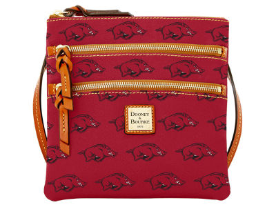 Arkansas Razorbacks Dooney & Bourke Triple Zip Crossbody Bag