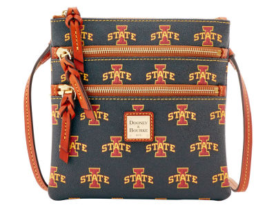 Iowa State Cyclones Dooney & Bourke Triple Zip Crossbody Bag