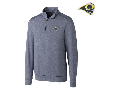 Los Angeles Rams Cutter & Buck NFL Men's Shoreline 1/4 Zip Pullover