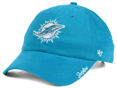 Miami Dolphins NFL Women's Glitter Logo '47 CLEAN UP Cap