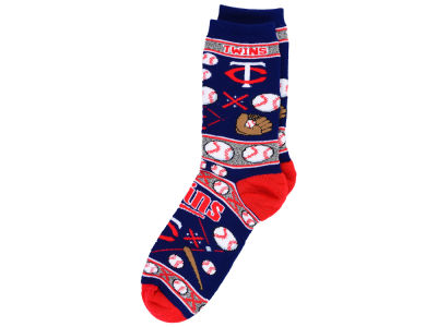 Minnesota Twins For Bare Feet 2016 Ugly Sweater Socks