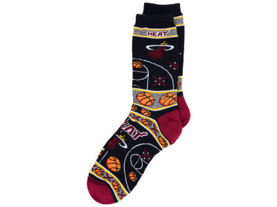Miami Heat For Bare Feet 2016 Ugly Sweater Socks