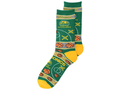 Seattle SuperSonics 2016 Ugly Sweater Socks