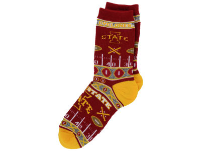 Iowa State Cyclones For Bare Feet 2016 Ugly Sweater Socks