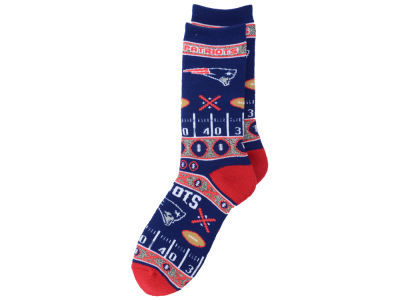 New England Patriots 2016 Ugly Sweater Socks