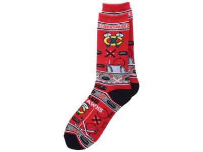 Chicago Blackhawks 2016 Ugly Sweater Socks