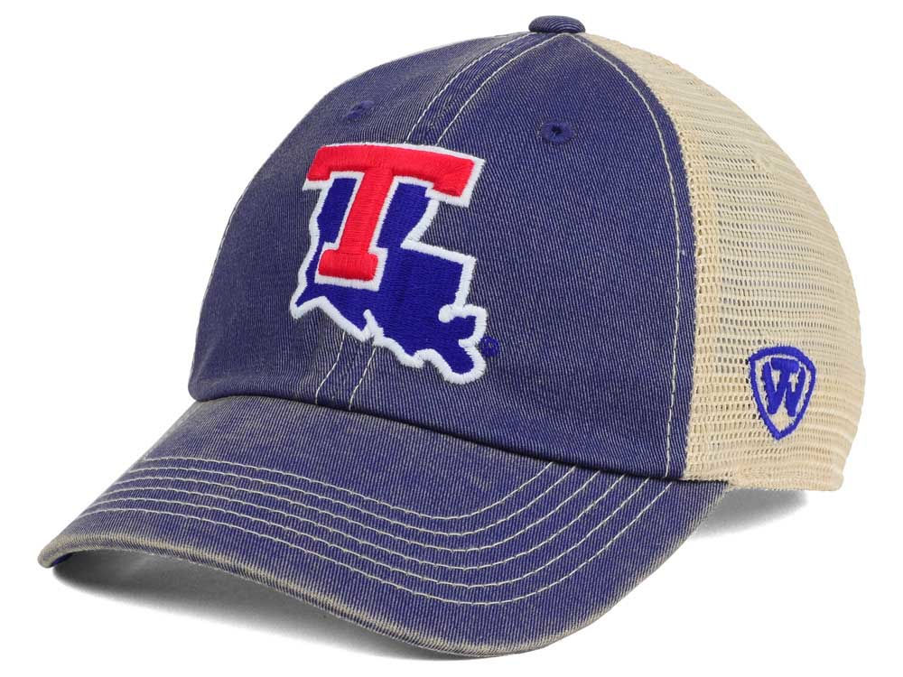 Louisiana Tech Bulldogs Top of the World NCAA Wickler Mesh Cap ... d6cd8763b6c8
