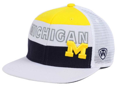 Michigan Wolverines Top of the World NCAA Midcourt Snapback Cap