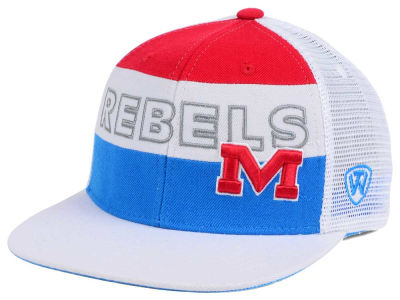 Ole Miss Rebels Top of the World NCAA Midcourt Snapback Cap