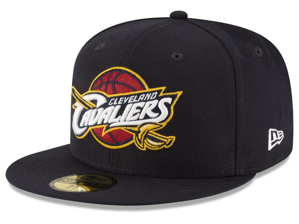 Cleveland Cavaliers New Era NBA Solid Team 59FIFTY Cap 75a89c3f51f