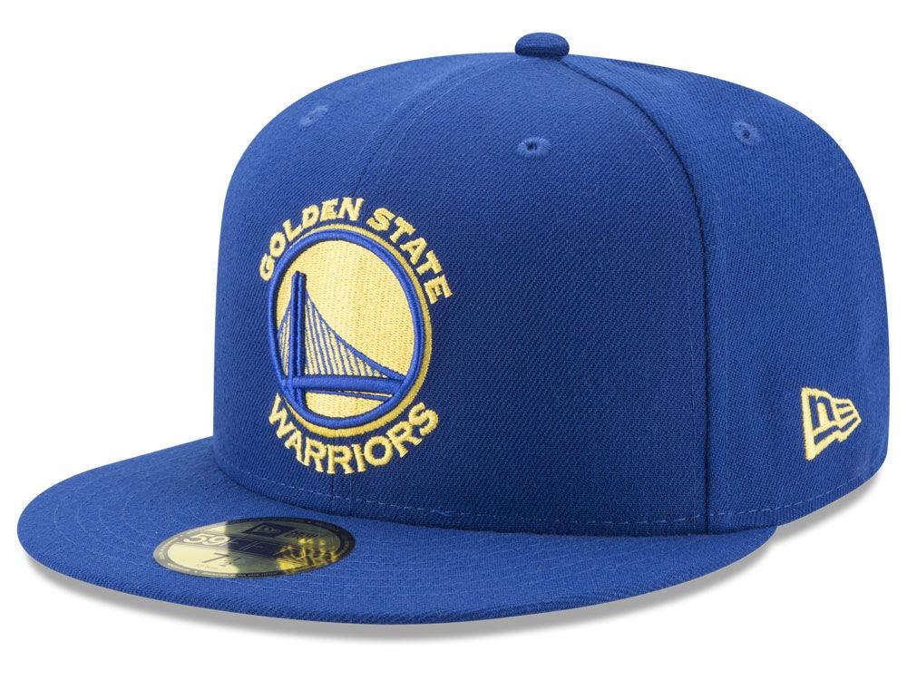 Golden State Warriors New Era NBA Solid Team 59FIFTY Cap  fc2a48b7aa3
