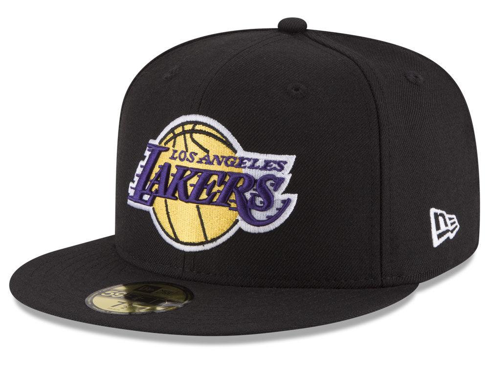 f5f2a5c288a Los Angeles Lakers New Era NBA Solid Team 59FIFTY Cap