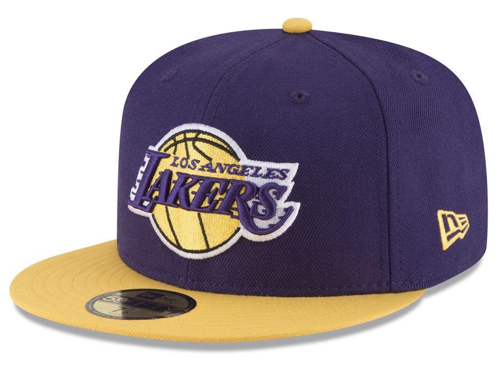 Los Angeles Lakers New Era NBA 2-Tone 59FIFTY Cap  e3dfa8eed5