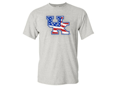 Kentucky Wildcats NCAA Men's Big Logo Stars and Stripes T-Shirts