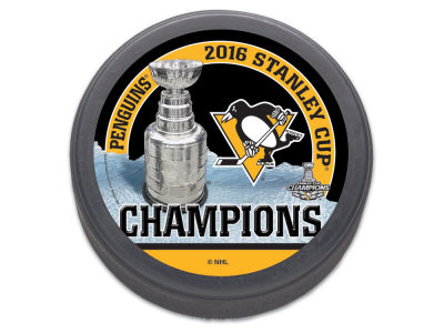 Pittsburgh Penguins 2016 Stanley Cup Champs Flat Hockey Puck - Event