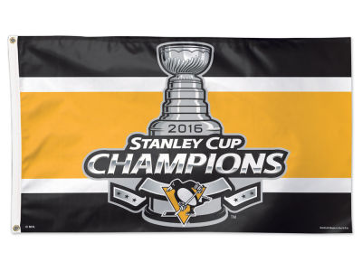 Pittsburgh Penguins 2016 Stanley Cup Champs Event 3x5 Flag