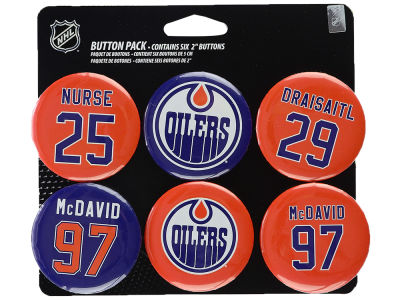 Edmonton Oilers Button Pack - 6 Pack