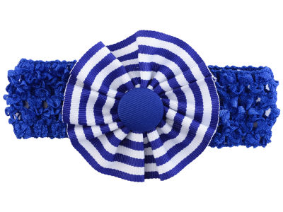 Kentucky Wildcats Crocheted Headband with Stripe Rosette