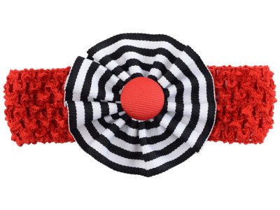 Louisville Cardinals Crocheted Headband with Stripe Rosette