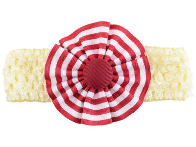 Oklahoma Sooners Crocheted Headband with Stripe Rosette