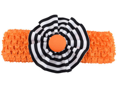 Oklahoma State Cowboys Crocheted Headband with Stripe Rosette