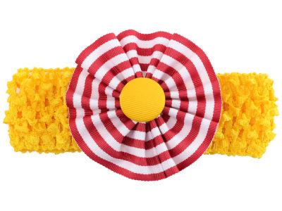 Iowa State Cyclones Crocheted Headband with Stripe Rosette