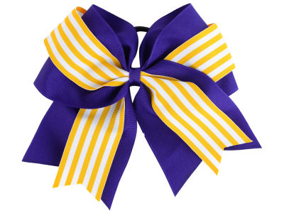 LSU Tigers 3inch Layered Stripe Ponytail