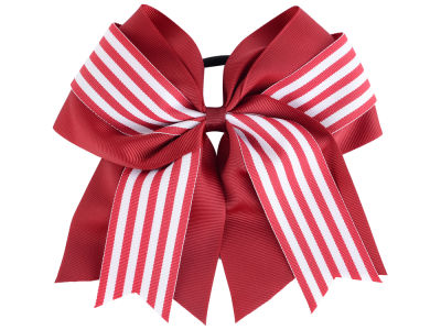 Oklahoma Sooners 3inch Layered Stripe Ponytail