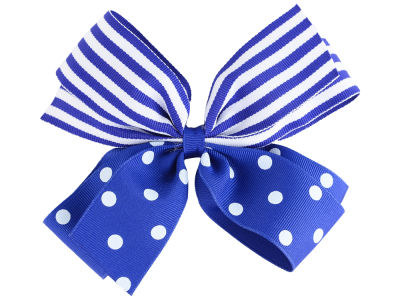 Kentucky Wildcats Polka Dot/Stripe Combo Bow