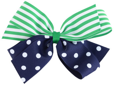 Polka Dot/Stripe Combo Bow