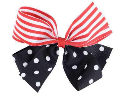 Louisville Cardinals Polka Dot/Stripe Combo Bow